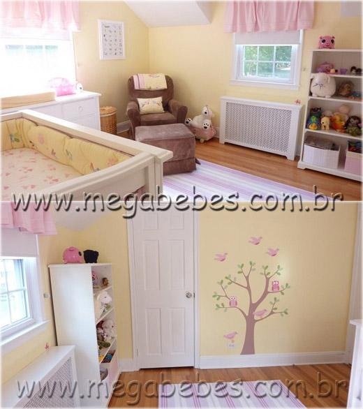 Mega Bebês » Quarto de Bebê Feminino ~ Quarto Rosa Amarelo