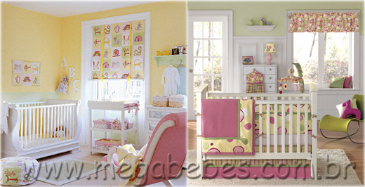 decoracao de quarto de bebe azul e amarelo:Quarto Bebe Rosajpg Pic #13