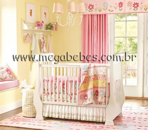 Mega Bebês » Quarto de Bebê Feminino ~ Quarto Rosa Listras