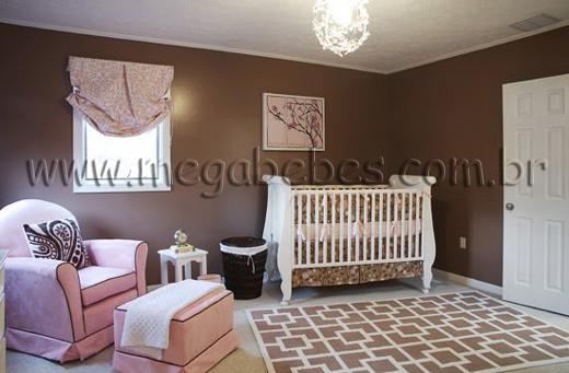 Mega Bebês » Quarto de Bebê Feminino ~ Quarto Rosa Marrom