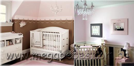 Mega Bebês » Quarto de Bebê Feminino ~ Quarto Rosa E Marrom De Bebe