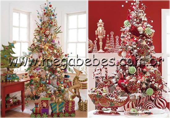 De Vermelho E Branco Já Tradicional Nesse Estilo De Decoração~ Decoracao Arvore De Natal Infantil