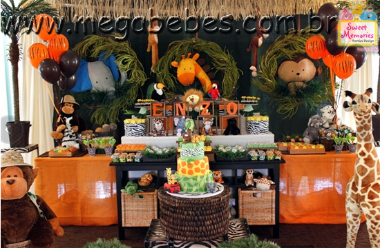 decoracao festa safari:Jungle Safari Birthday Party