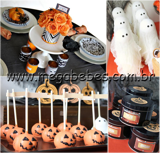 Decoracao De Festa Infantil Tema Halloween.Mega Bebes Festa Infantil Halloween