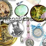 Medalhas para Berço – Mini Terço para Lembrancinhas
